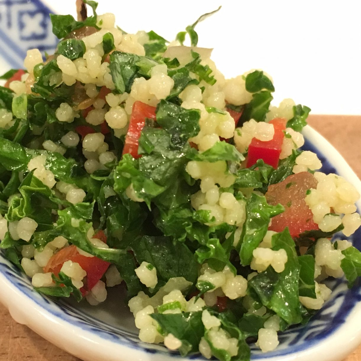 Tabouleh salat med grønkål