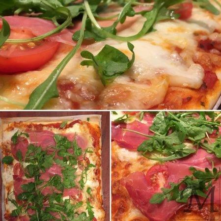 pizza med Serrano skinke