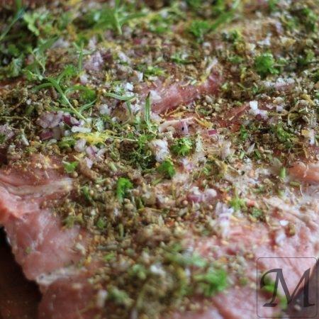porchetta åben før rulning