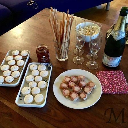 macaron og champagne
