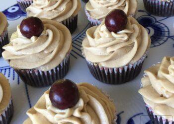 Cupcakes med chokolade og lakrids