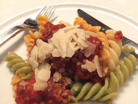 pasta med kødsauce