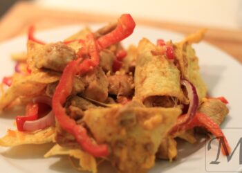Nachos med kylling og krydderier