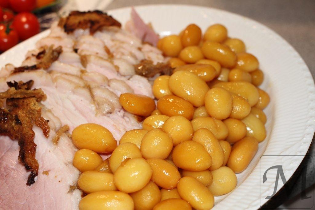 Svenske juleskinke med brune kartofler