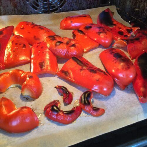 Bagt peberfrugt romesco sauce