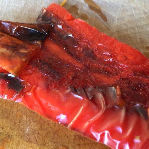 Skræl peberfrugter til romesco