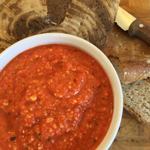 Romesco sauce på brød